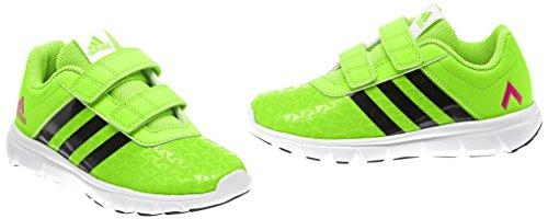 adidas FB Ace CF, Scarpe da Calcetto Unisex Bambino, Verde (Solar Green/Core Black/Shock Pink), 33 EU