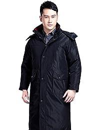 Queenshiny Long Men's Down Coat Jacket white duck down filling detachable liner hood&collar uk sizeM-XXL