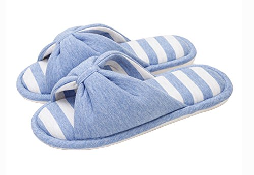(Made By Cotton) Skidproof Le Style Simple De Pantoufles(Bleu Ciel)