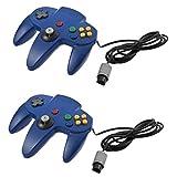 ACEHE 2PCS Gamepad Controller Wired Klassischen Für Nintendo N64 Tiefblau -