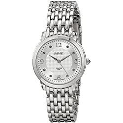 August Steiner Pure Elegance Diamond Watch with Silver-Tone Dial and Silver-Tone Alloy Bracelet AS8133SS