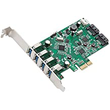 SYBA 6PORT 4XUSB 3.0 2XSATA III PCIE Interno SATA,USB 3.0 - Accesorio (PCIe, SATA, USB 3.0, VLI VL805 & ASMedia 1061, Caja)