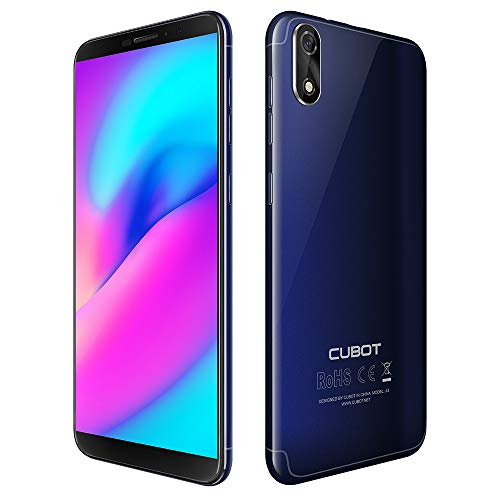 Cubot J3 Dual SIM Smartphone ohne Vertrag (5 Zoll 18:9 Full-Wide Display, 16GB Interner Speicher, Android 8.1 Oreo(Go Edition), 8MP+5MP Dual Kamera, 2000mah Akku)(blau) (Entsperrt Smartphone Mit Sim-karte)