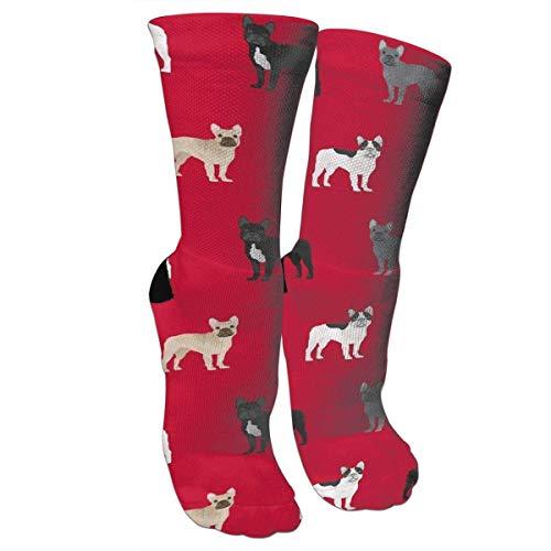 dfegyfr New French Bulldogs Dog Knee High Graduated Compression Socks for Women and Men - Best Medical, Nursing, Travel & Flight Socks - Running & Fitness - Zeigen Jugend-socken