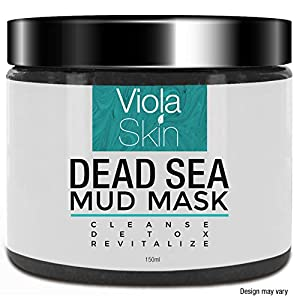 PREMIUM Dead Sea Mud Mask – Facial Anti Ageing Brightening and Blackhead Remover For All Skin Types – Naturally…