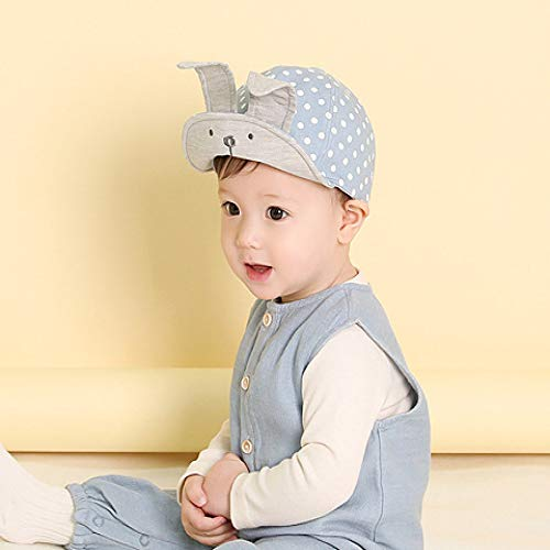 mlpnko Long Ear Dot Rabbit Soft mit Baseballmütze Cotton Child Duck Tongue Babymütze Blau 48cm