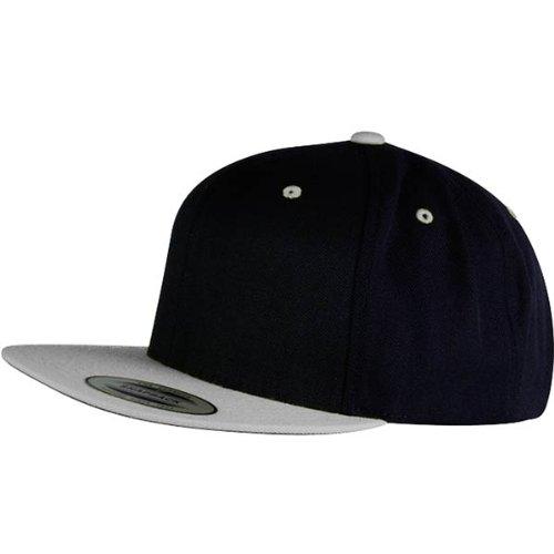 Baseball Snapback Cap black/silver
