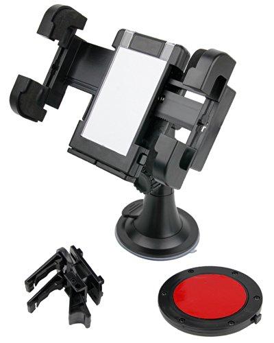 DURAGADGET Auto Kit: Halterung für LG Optimus Speed P990 2X Handy (Befestigungsvorrichtung für Windschutzscheibe, Armaturenbrett, Lüftungsgitter)