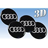 Rad-Aufkleber Emblem Audi Größe (60mm.)
