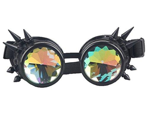 DODOING Kaleidoscope Goggles Weinlese-Art Gotische Retro Steampunk Cosplay Brille Glasses Welding...