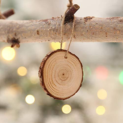 (Wingbind Weihnachtsbaum Dekoration, Xmas Tree Anhänger, DIY Kleine hängende Holzanhänger, Handschriftliche Holz Handwerk, Set von 10 Stück)