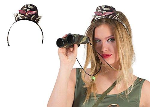 erdbeer-clown - Kostüm Accessoire- Military Mottoparty Camouflage Army Haarreif mit Hut, Erwachsenen Kopfbedeckung, (Kostüme Grüner Pfeil Muster)