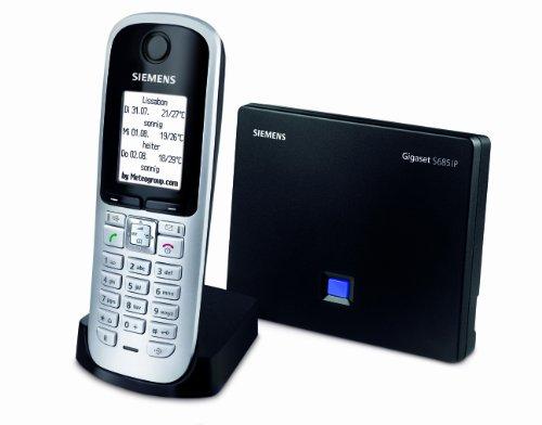 Gigaset S685 IP schnurloses VoIP-Telefon (beleuchtetes Farbdisplay, Bluetooth, Konferenzfunktion, Anrufbeantworter) titanium
