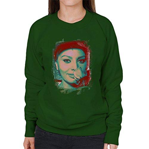 Sophia Loren Screen Siren Rose Effect Women's Sweatshirt