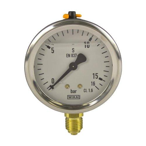 Manometer, NG63, 0-16 bar - WIKA 213.53 - 9022007 Manometer Flüssigkeit