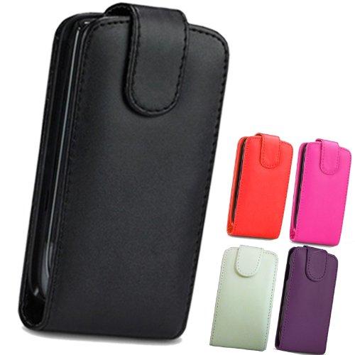 FI9 Custodia di pelle a portafoglio, in poliuretano, con pellicola protettiva per cellulari Samsung, Similpelle, - noir, Galaxy Ace GT-S5830 S5830i S5839i