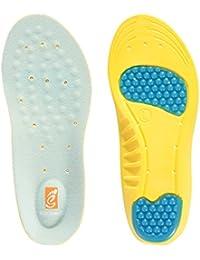 SESSOM&CO Semelles orthopédiques avec support d'arc, coussin de talon et massage de gel sur l'avant-pied pour soulager la douleur au pied et la fasciite plantaire