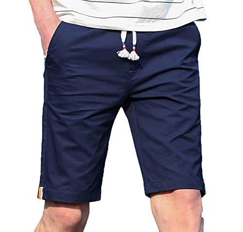Scothen Herren Cargo Shorts Bermuda Kurze Hose Jeans Bermudas Shorts Vintag Kurze Hose Kariert Knielang Sport Cargo Kurze Hose Slim Fit Freizeit Shorts Casual Mode Männer Streifen Kurze Hose Marine