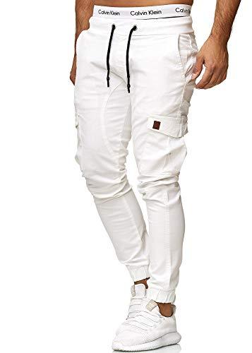 OneRedox Herren Chino Pants   Jeans   Skinny Fit   Modell 3301 Weiss 29 -