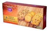 Karachi Bakery Triple Delight, Triple Choice, Fruit, Chai and Kaju Biscuits, 600g