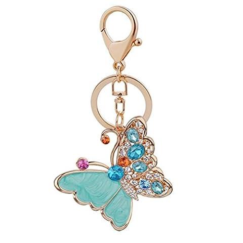 Mxixi Creativity Crystal Fashion Exquisite Butterfly Shape Purse Pendant Handbag
