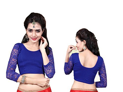 Blouse Bluse Saree Bollywood Wedding Hochzeit Sari Kleid Damen Indian ganz Casual Birthday Crop top fertig genäht Readymade gestickt Dehnbar Stretchable Material Women Party wear Free Size Oberteil -