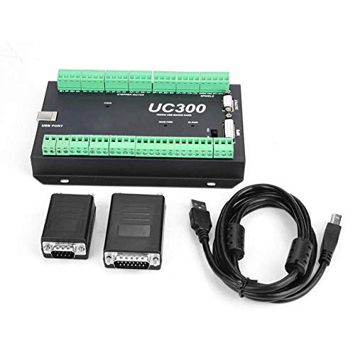 Acogedor Motion Control Board, UC300 3-6 Axis Motion Controller für Mach3 mit USB-Kommunikation, 300Khz(6 Achsen)
