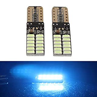 ANFTOP T10 168 175 194 2825 W5W LED Light Bulbs 3014 24SMD Super Bright DC 12V Interior Map Dome License Plate Side Marker Lights Ice Blue