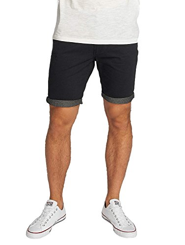 Brave Soul Herren Hosen Shorts Herren-Short Sport-Shorts Kurze Hose Bermuda Sommer Hanson (Navy Blau Chambray, S)