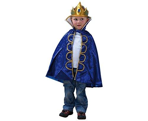 Kinderkostüm König, für Kinder von 3-8 Jahren, Fasching, Rollenspiele, Theater, waschbar - Kinder Faschingskostüm Karnevalskostüm Kinderkarnevalskostüm Verkleidung (Krippe Kinder Kostüm König)