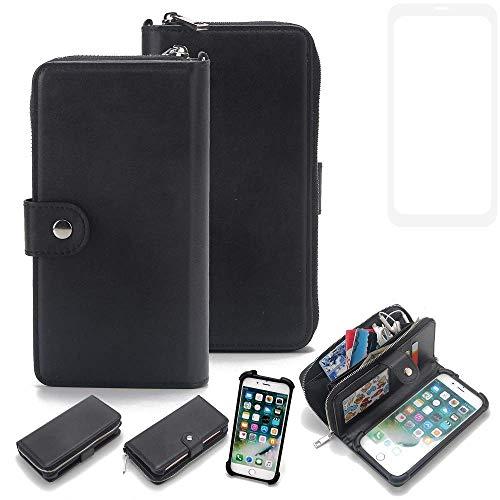 K-S-Trade 2in1 Handyhülle für Vestel V3 5580 Dual-SIM Schutzhülle & Portemonnee Schutzhülle Tasche Handytasche Case Etui Geldbörse Wallet Bookstyle Hülle schwarz (1x)