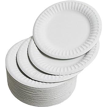 15 cm Pappteller rund braun 100 Imbissteller extra .. 100/% Frischfaserkarton