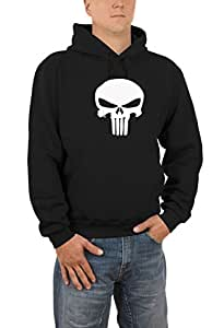 Touchlines Punisher Hooded Sweatshirt S - XXXL Various Colours black Size:S
