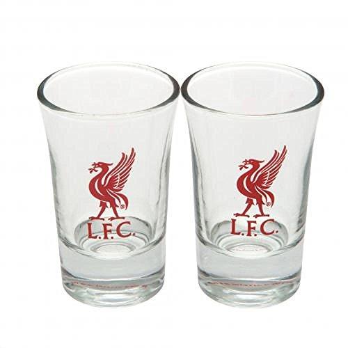 Geschenkideen-offizielles FC Liverpool Schnapsglas/Shot-Glas Set (2 Stück), tolles Geschenk Fußball-Fans