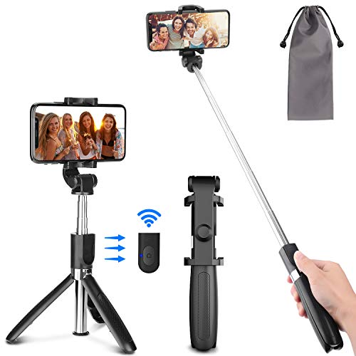 PEYOU Palo Selfie Trípode para Móvil, Palo Selfie Stick con Control Remoto, Mini Selfie Stick para iPhone XS MAX XR 8 8 Plus 6 6s 7 7plus, Samsung Galaxy, Huawei p10 Lite p9 Mate 10