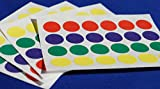 240 STICKY COLOURED DOTS 16mm LABELS DOTS ROUND CIRCLES SELF ADHESIVE ASSORTED COLOURS - 10 Sheets - LABELS4U ®TM Branded Product