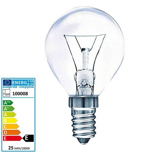 Müller Licht Tropfenlampe Backofen 300 Grad Celsius E14 230 Volt 25 Watt klar (Halogen-grill-licht)