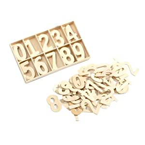 50 plain wooden small number numbers 0 9 blank craft set for Small wooden numbers craft