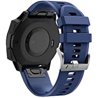 Hunpta@ Uhrenzubehör für Garmin Instinct, Schnellverschluss Mode Sport Silikon Ersatzband Easy Fit Uhrenarmband