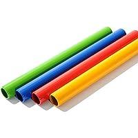 CZ-ING - Bastones de Aluminio para Atletismo con Herramientas de Carreras de Campo Multicolor, 4 Unidades