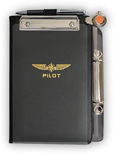 Design4Pilots - Cosciale 'Profi' A5 / Pilot Kneeboard Organizer 'Profi', black