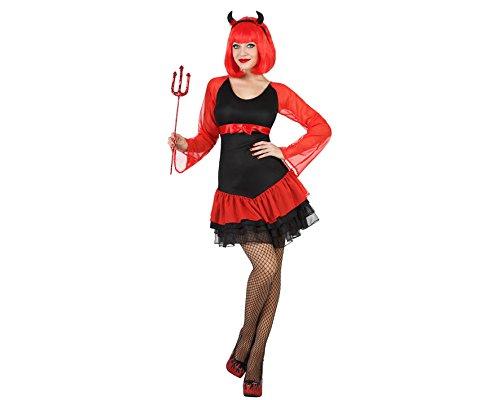 ATOSA 22665 - Teufelin Kostüm, Größe XL, schwarz/rot