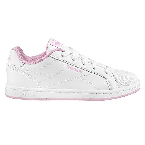 Reebok Mädchen Bs7930 Turnschuhe, Weiß/Charming Pink, 34.5 EU