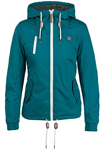 DESIRES Tilda Damen Übergangsjacke Jacke Mit Kapuze, Größe:XL, Farbe:Dark Petrol (1298)