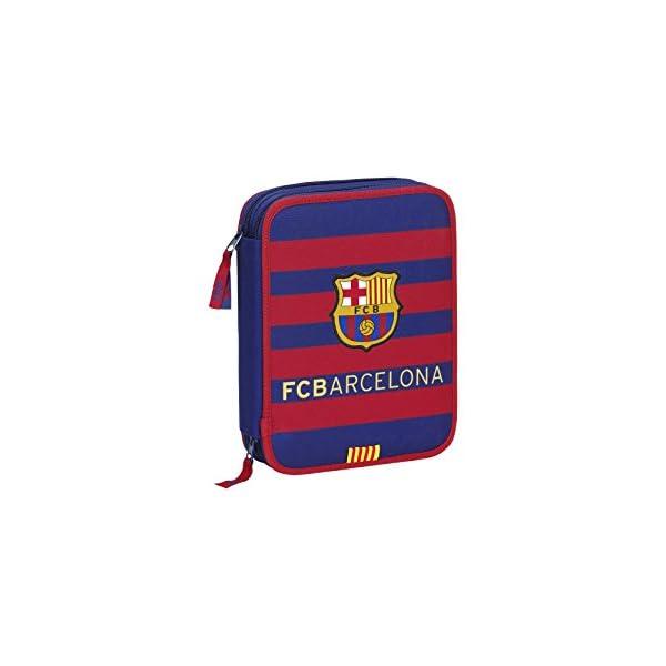 Barcelona FC estuche Safta 411778054 Plumier de doble compartimento 34 piezas