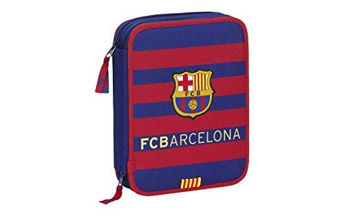 F.C. Barcelona – Plumier doble, 56 piezas, 20 x 25 cm (Safta 411529056)