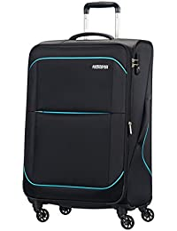 American Tourister - Sunbeam spinner 4 ruedas 55/20 equipaje de mano, negro (after dark), M (68,5cm-75L)
