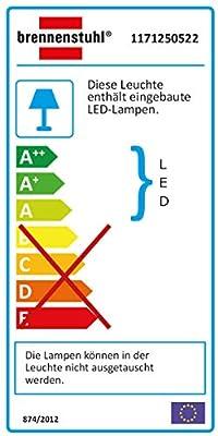 Brennenstuhl Chip-LED-Leuchte / LED Strahler mit Bewegungsmelder Infrarot für außen (Außenstrahler 50 Watt, LED Fluter Tageslicht, IP44) Farbe: silber