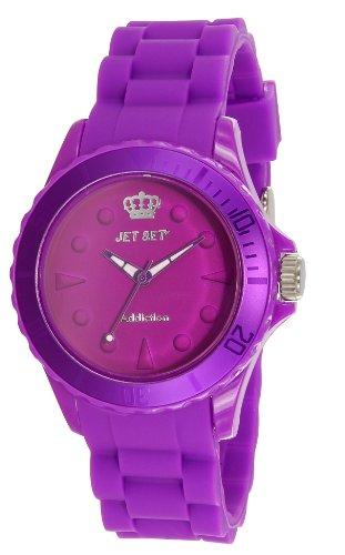 Jet Set J19314-58 - Reloj analógico de cuarzo para mujer con correa de caucho, color morado