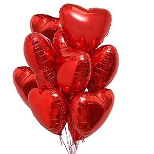 25 Globos Corazón Rojo Helio